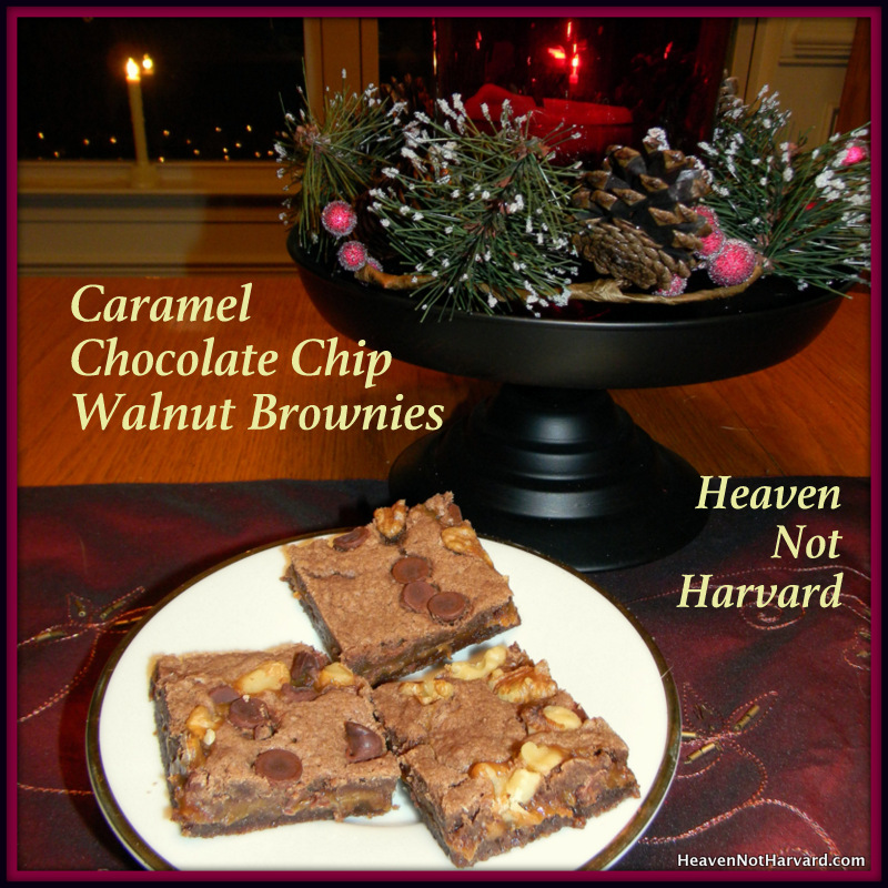 Decadent Caramel Brownie Recipe - Heaven Not Harvard
