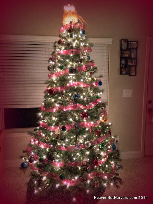 Heaven Not Harvard Christmas Tree - Adventures in Advent