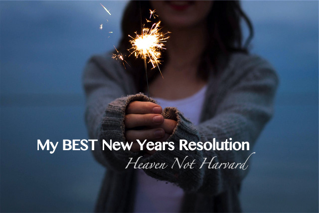 I make the same resolution every year. But I don't want to make just any resolution this year. I want to make my BEST New Years Resolution
