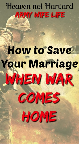 How can you save your marriage when war comes home? It's a journey of patience and grace with a whole lot of Jesus filling in the empty spaces.