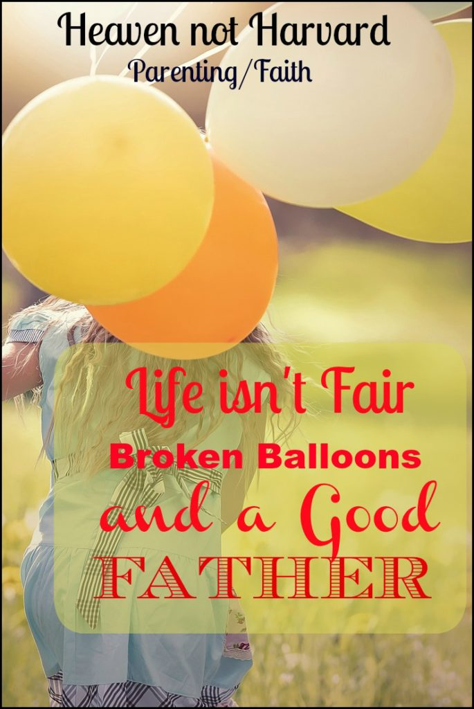 """""""Life isn't fair!"""" she sobbed, holding her broken balloon. """"I wanted to show daddy!"""" In that moment my minivan became a place of ministry to both of us."""