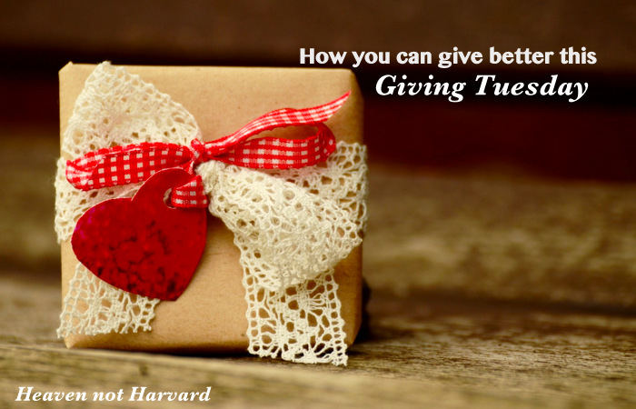 Giving Tuesday is an opportunity to focus on the real meaning of the holiday season, the gift of Christ, but we can all do better with HOW we give. #GivingTuesday #GiveBetter #Charity