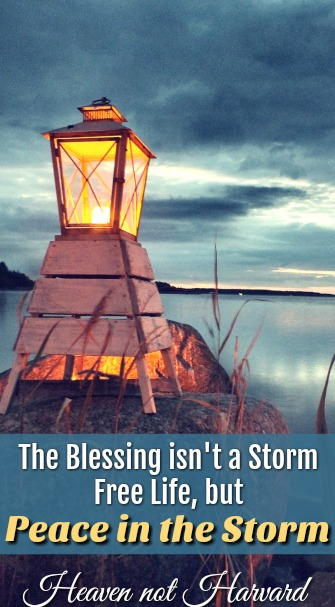 Despite many challenges, I've learned the blessing isn't a storm free life, but God's presence and peace in the storm.