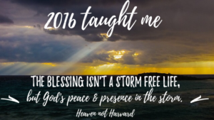 After a rough couple of years, I've learned the real blessing is peace in the storm.
